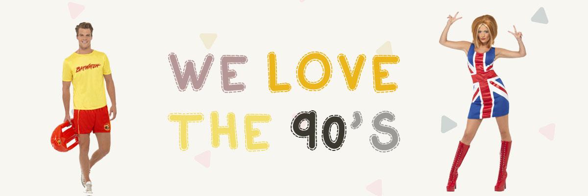 90-tals kläder & mode
